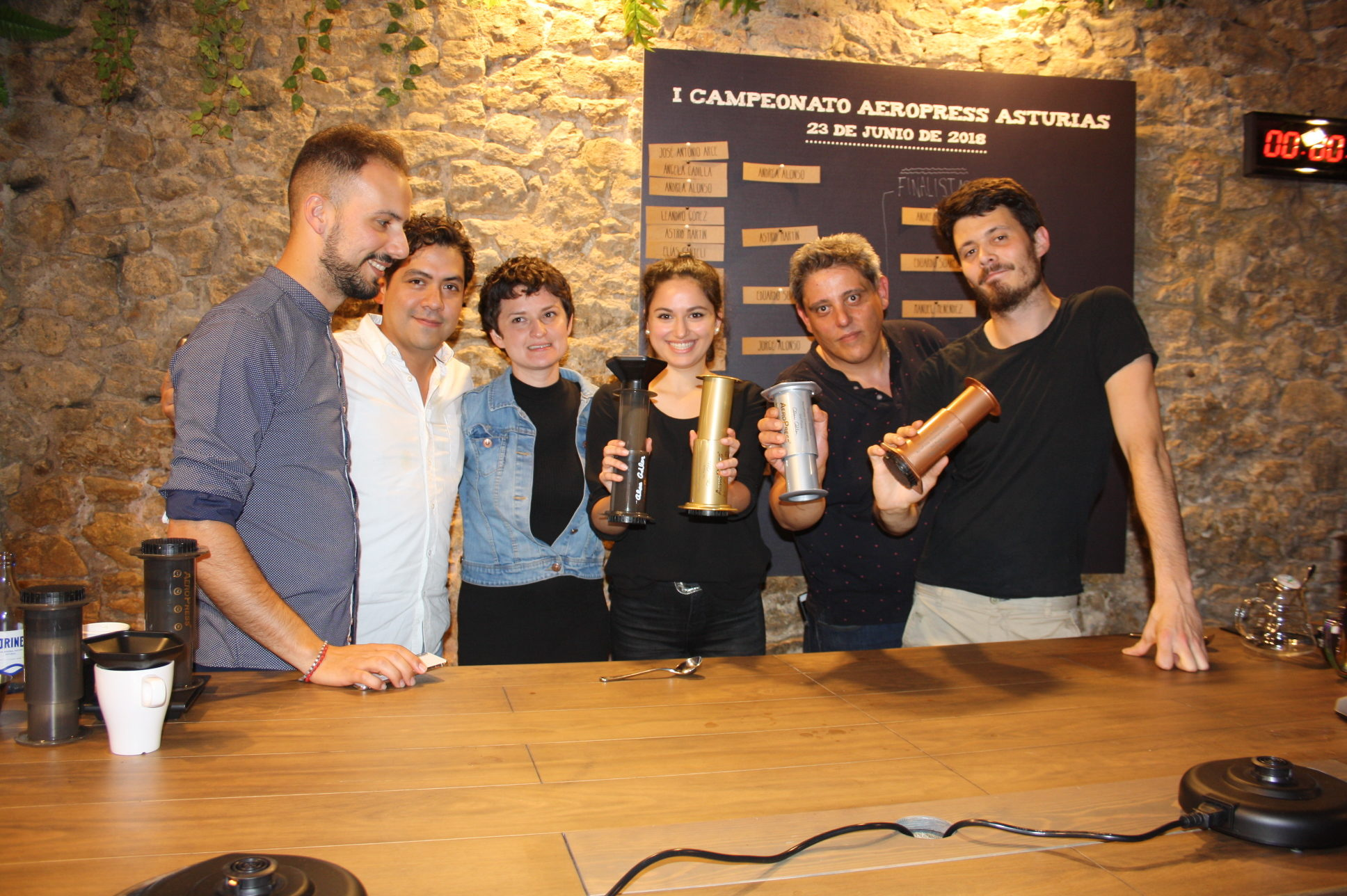 Éxito de Cafés Oquendo en el I Campeonato AeroPress de Asturias
