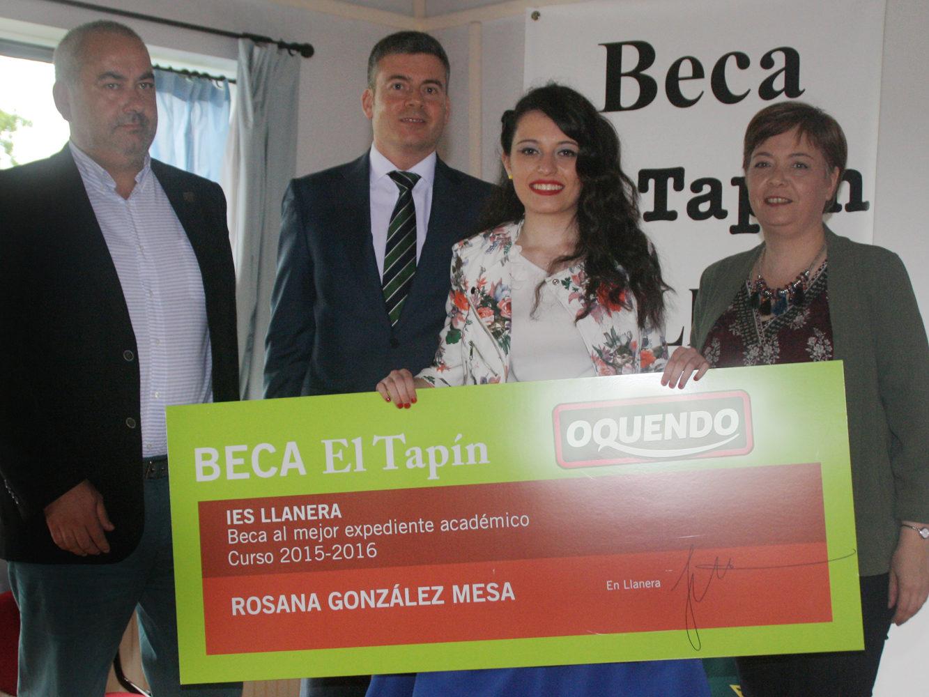 1.500 € de Beca Oquendo al Mejor Expediente Académico