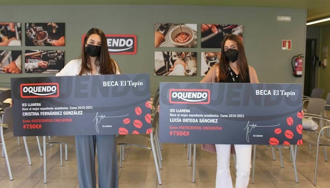 Lucía Ortega y Cristina Fernández compartirán la beca 'Tapín-Oquendo' al Mejor Expediente de Bachillerato